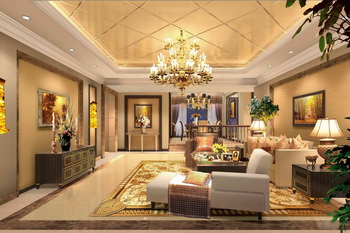 Luxury golden extravagance living room