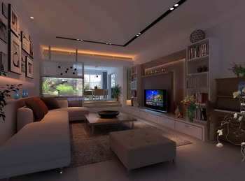 Simple white single living room