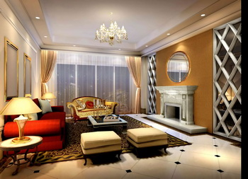 Brilliant and elegant modern living room