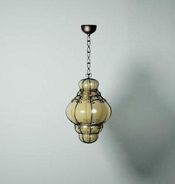 Classic retro metal chandelier