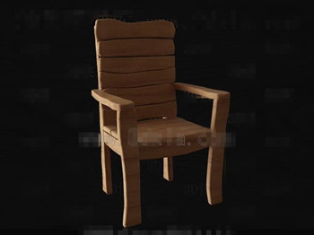 Simple and original wooden chair