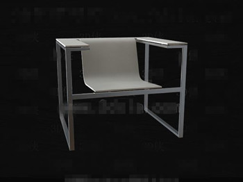 Link toMetal frame smooth and white chair