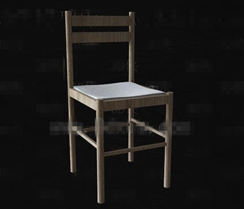 Simple wooden back-rest chair