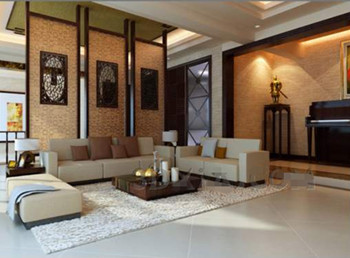 Chinese style elegant simple living room