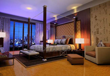 Chinese style elegant and dark bedroom
