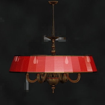 Red beautiful retro metal pendant lamp