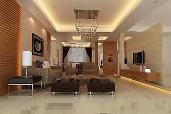 Warm comfortable small living room