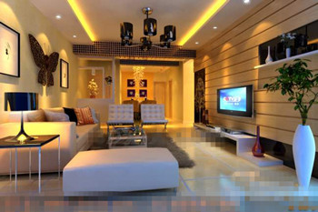 Modern exquisite decorated living room