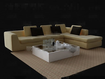 Link toPale yellow sofa and tea table combination