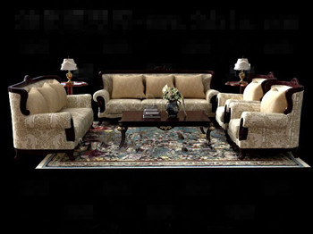 Luxurious and comfortable sofa combination