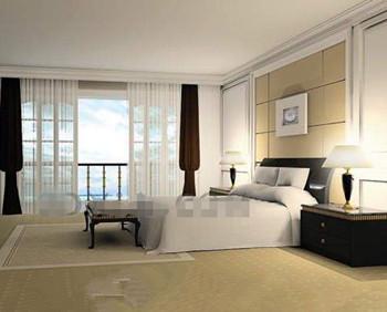Modern minimalist stylish bedroom