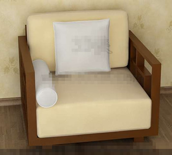 The yellowish comfortable single sofa