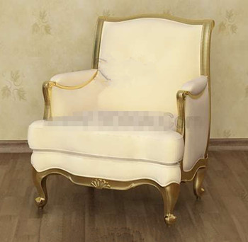 Pale yellow exquisite sofa chair