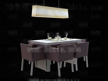 Modern comfortable purple dining table