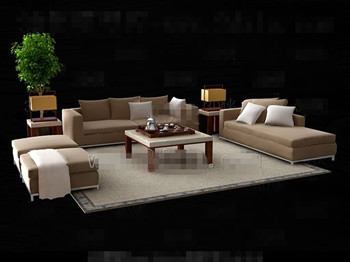 Simple and elegant sofa combination