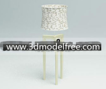 Link toFabric flower compiled wooden bottom lamp