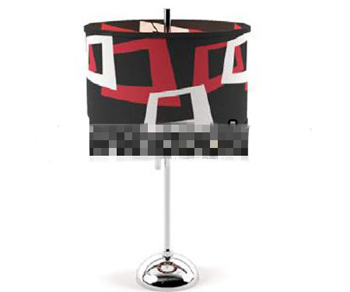 Red white and black exaggerated light cap lamp
