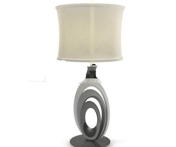 Link toRice yellow light cap marble cradle table lamp
