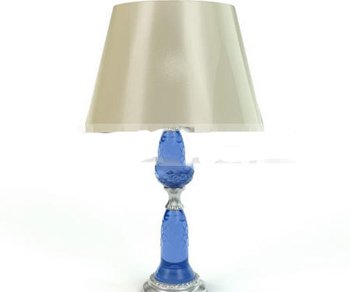 Blue Crystal Column lamp