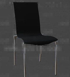Black metal feet chair