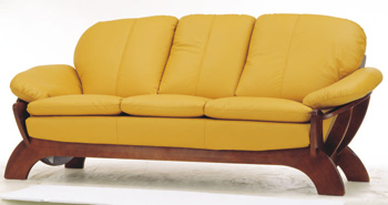Link toModern yellow three seats sofa