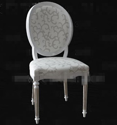 European-style white wooden chair