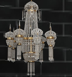 Crystal bead curtain chandelier