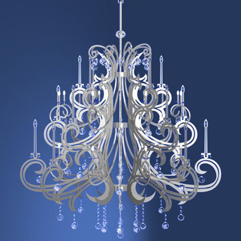 Modern European crystal relief chandelier