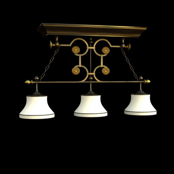 Modern metal frame Chandeliers 3D model
