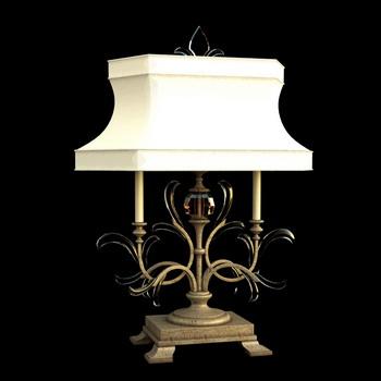 European style classic white shade lamp