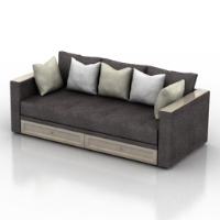 Modern style luxury sofa 3d model