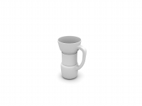 White cup 3D model