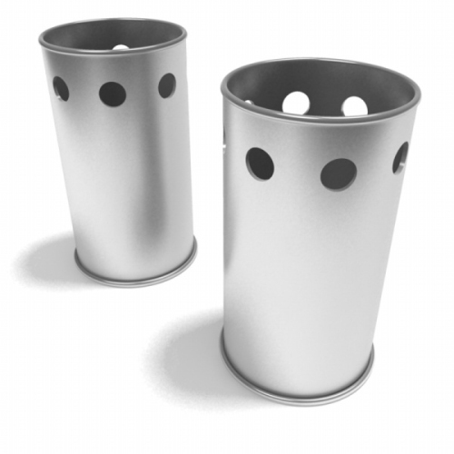 Stainless steel trash can 3d models