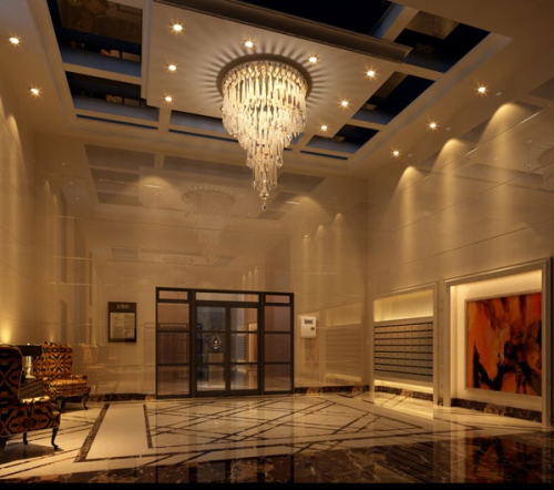 Hotel Icon Foyer : Gorgeous hotel entrance hall d model download free vector