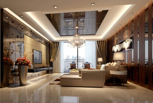 Luxury living room decoration 3D model