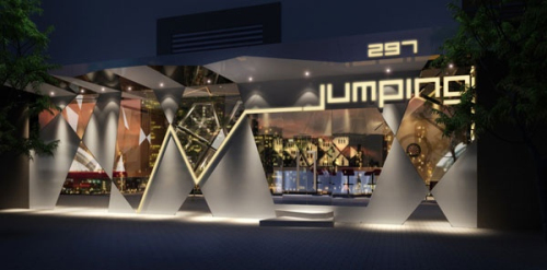 Creative fashion decoration bar 3d model