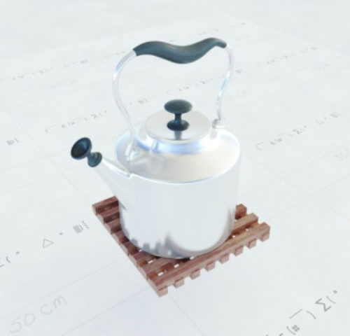 Heart-shaped stainless steel kettle portable 3D model