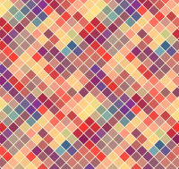 Colored diamond mosaic background vector material