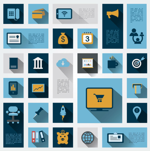 26 Business Information icon vector material_Download free ...