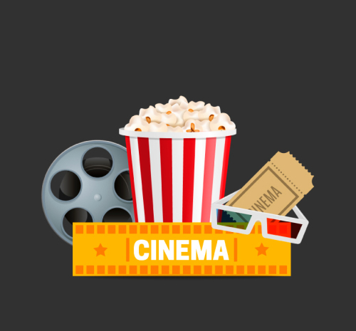 5 movie design elements vector material_Download free vector,3d