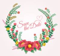Wedding Flower color vector material