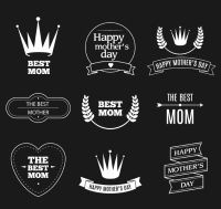 9 white label vector Mothers Day