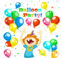 Colorful balloons and birthday cards for children Vectors