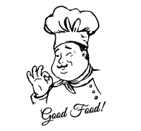 Hand-painted male chef vector material