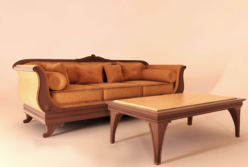 Sofa, coffee table, combined